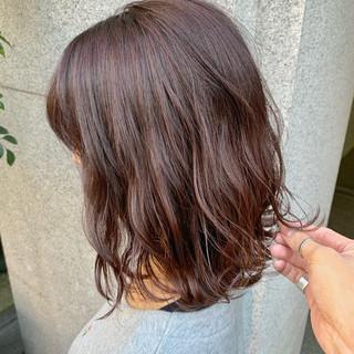 透明感 ピンクアッシュ ピンクベージュ ピンク ヘアスタイルや髪型の写真・画像