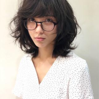ハイライト ガーリー ミディアム ヘアアレンジ ヘアスタイルや髪型の写真・画像