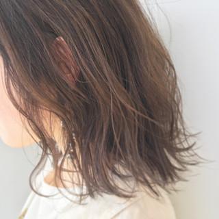 外ハネ パーマ ウェットヘア ボブ ヘアスタイルや髪型の写真・画像