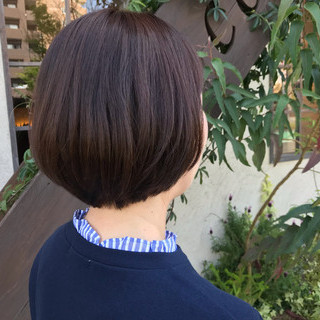 ショートボブ フェミニン ラフ ミニボブ ヘアスタイルや髪型の写真・画像