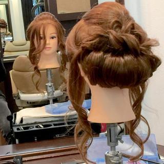 ショート 結婚式 簡単ヘアアレンジ ミディアム ヘアスタイルや髪型の写真・画像