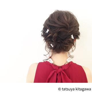 花嫁 ヘアアレンジ ハイライト ミディアム ヘアスタイルや髪型の写真・画像 ヘアスタイルや髪型の写真・画像