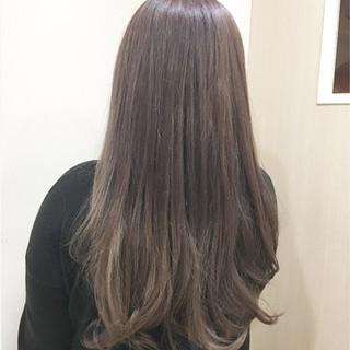 ストリート バイオレットアッシュ ピンク ダブルカラー ヘアスタイルや髪型の写真・画像