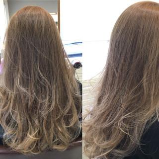 ハイライト 秋 グラデーションカラー ガーリー ヘアスタイルや髪型の写真・画像