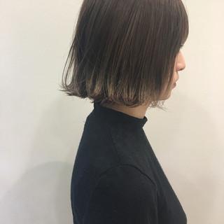 アッシュ 冬 ボブ 切りっぱなし ヘアスタイルや髪型の写真・画像 ヘアスタイルや髪型の写真・画像