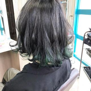 インナーカラー ナチュラル ベリーショート ボブ ヘアスタイルや髪型の写真・画像