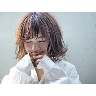 ミディアム 色気 ボブ 前髪あり ヘアスタイルや髪型の写真・画像