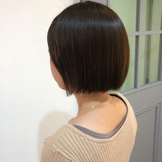 透明感 大人かわいい ショートボブ 黒髪 ヘアスタイルや髪型の写真・画像