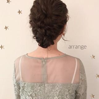 ゆるふわ セミロング 結婚式 ガーリー ヘアスタイルや髪型の写真・画像