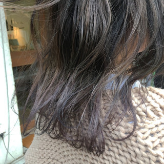 グラデーションカラー グレー 外国人風カラー アッシュ ヘアスタイルや髪型の写真・画像