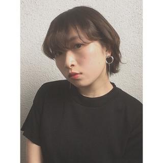 ウルフ女子 小顔ショート ショート ナチュラル ヘアスタイルや髪型の写真・画像