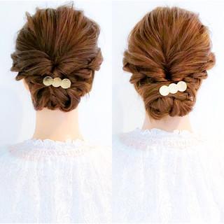 アウトドア 簡単ヘアアレンジ 結婚式 ロング ヘアスタイルや髪型の写真・画像