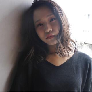 セミロング ピュア 黒髪 ゆるふわ ヘアスタイルや髪型の写真・画像 ヘアスタイルや髪型の写真・画像