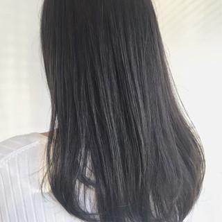 イルミナカラー グレージュ ミディアム 就活 ヘアスタイルや髪型の写真・画像