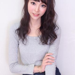大人かわいい コンサバ ロング 黒髪 ヘアスタイルや髪型の写真・画像