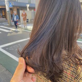 ラベンダーアッシュ ナチュラル ロング インナーカラー ヘアスタイルや髪型の写真・画像