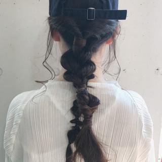 アンニュイほつれヘア 簡単ヘアアレンジ 成人式 ロング ヘアスタイルや髪型の写真・画像