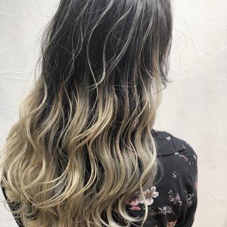 グラデーションカラー 外国人風 透明感 ストリート ヘアスタイルや髪型の写真・画像
