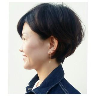 かわいい ショート 上品 40代 ヘアスタイルや髪型の写真・画像