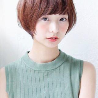 ショートボブ アッシュ ショート 田中美保 ヘアスタイルや髪型の写真・画像
