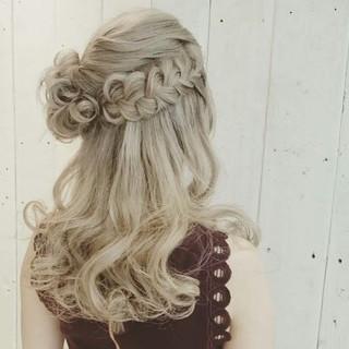 ふわふわ 結婚式 ヘアアレンジ ガーリー ヘアスタイルや髪型の写真・画像 ヘアスタイルや髪型の写真・画像