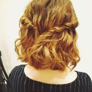 ボブ ショート 簡単ヘアアレンジ ハイトーン ヘアスタイルや髪型の写真・画像 ヘアスタイルや髪型の写真・画像