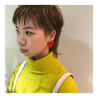 ショート ストリート ハイトーンカラー ベリーショート ヘアスタイルや髪型の写真・画像