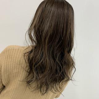 ナチュラル ベージュ N.オイル セミロング ヘアスタイルや髪型の写真・画像