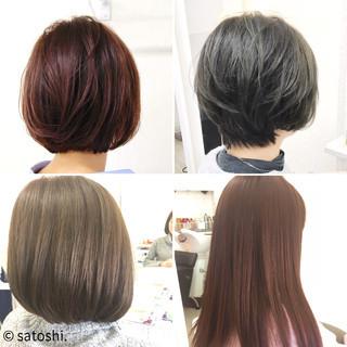 ショートボブ ロング ショート ナチュラル ヘアスタイルや髪型の写真・画像