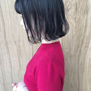 ナチュラル 切りっぱなしボブ ミニボブ 外ハネボブ ヘアスタイルや髪型の写真・画像