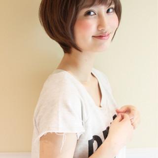 小顔 ナチュラル 似合わせ 黒髪 ヘアスタイルや髪型の写真・画像