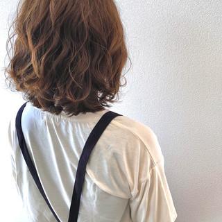 ボブ ナチュラル 無造作カール ヘアスタイルや髪型の写真・画像