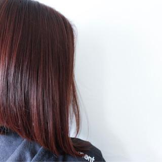 ボブ バレンタイン ナチュラル ラベンダーピンク ヘアスタイルや髪型の写真・画像