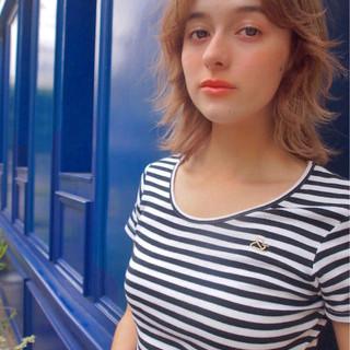 外国人風カラー 透明感 ナチュラル ミディアム ヘアスタイルや髪型の写真・画像 ヘアスタイルや髪型の写真・画像