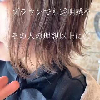 ハイトーンカラー ボブ ハイトーン ミルクティーベージュ ヘアスタイルや髪型の写真・画像