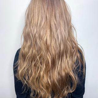 ハイトーンカラー モード ロング ショートヘア ヘアスタイルや髪型の写真・画像