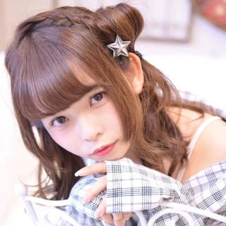 ミディアム 小顔 ガーリー おフェロ ヘアスタイルや髪型の写真・画像