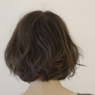 ボブ 暗髪 外国人風 アッシュ ヘアスタイルや髪型の写真・画像