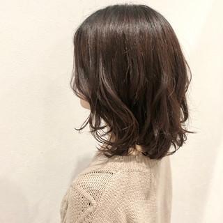 デジタルパーマ パーマ ナチュラル ゆるウェーブ ヘアスタイルや髪型の写真・画像