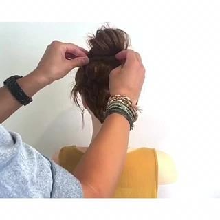 デート フェミニン 色気 ヘアアレンジ ヘアスタイルや髪型の写真・画像