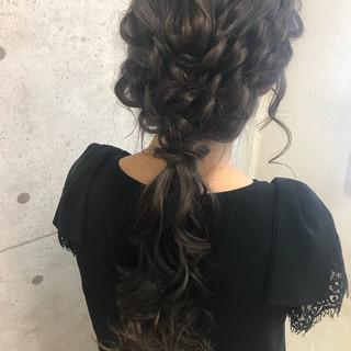ロング ヘアアレンジ 大人女子 結婚式 ヘアスタイルや髪型の写真・画像