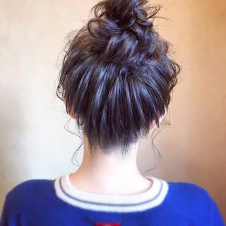 お呼ばれ デート セミロング 簡単ヘアアレンジ ヘアスタイルや髪型の写真・画像