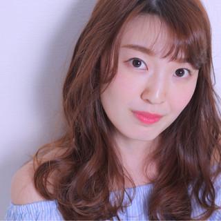 ロング モテ髪 フェミニン バレンタイン ヘアスタイルや髪型の写真・画像