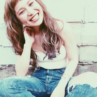 ロング ストリート 夏 アンニュイ ヘアスタイルや髪型の写真・画像