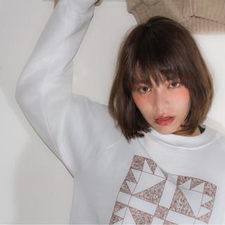ボブ 抜け感 大人女子 外国人風 ヘアスタイルや髪型の写真・画像