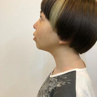 デニム アディクシーカラー アクセサリーカラー ストリート ヘアスタイルや髪型の写真・画像 ヘアスタイルや髪型の写真・画像