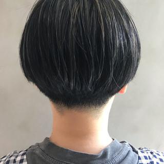 3Dハイライト 黒髪ショート 透け感ヘア ショートヘア ヘアスタイルや髪型の写真・画像