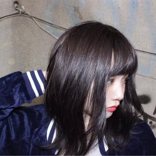 冬 ストリート アッシュ 色気 ヘアスタイルや髪型の写真・画像