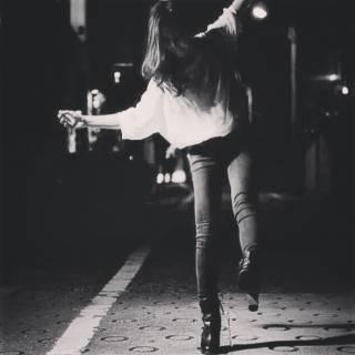 黒髪 モード ロング ストリート ヘアスタイルや髪型の写真・画像