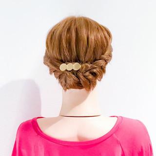 結婚式 ヘアアレンジ 簡単ヘアアレンジ ロング ヘアスタイルや髪型の写真・画像